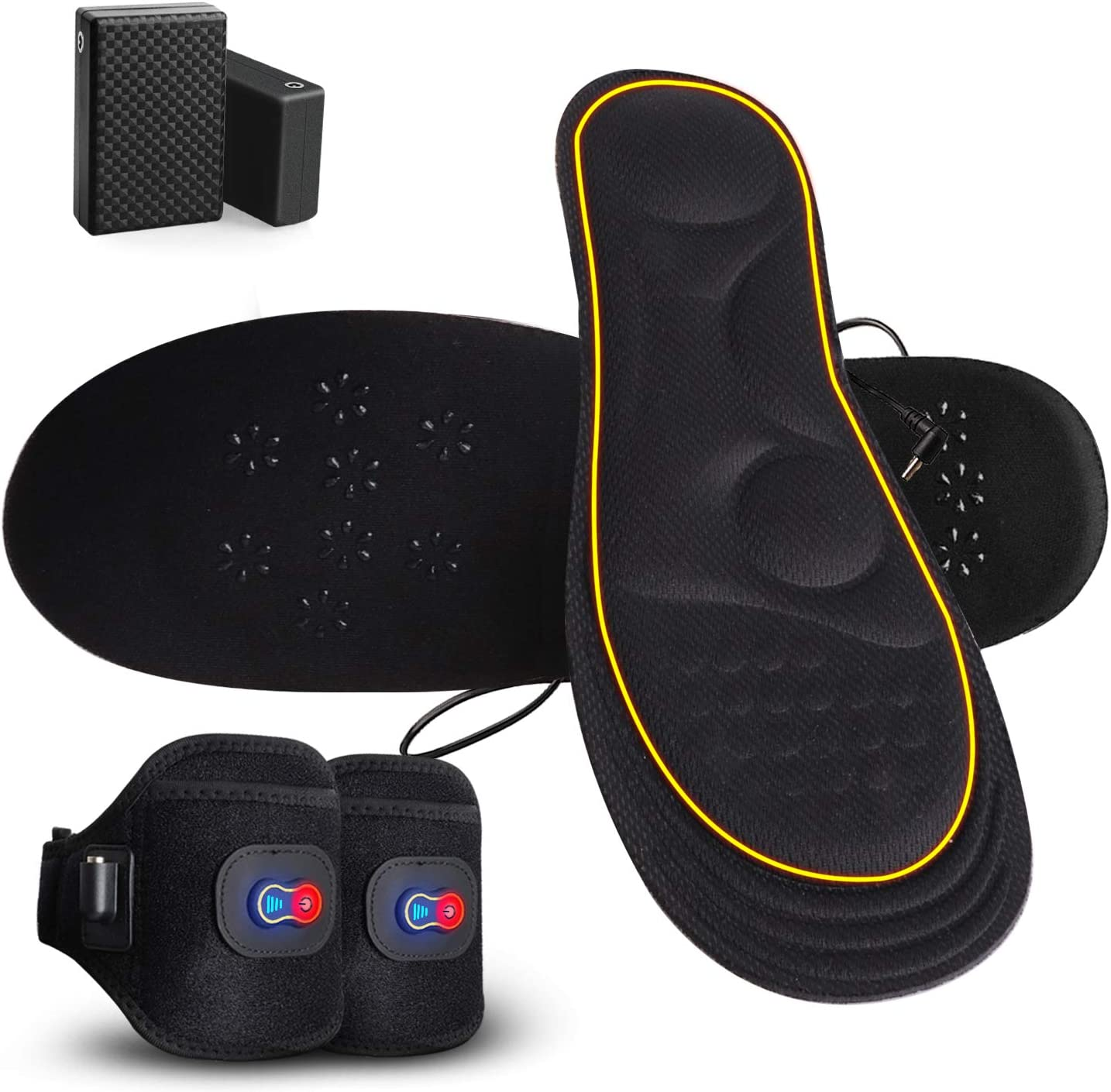 GMAYOO Heated Insoles for Women Men Powered Battery 割引も実施中 本物 and Recharge