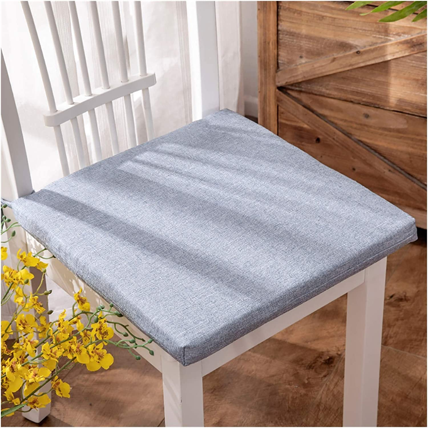 WCN Seat Cushion Solid Color Deluxe Non Dining Pads Mail order cheap Kitchen Chair Slip