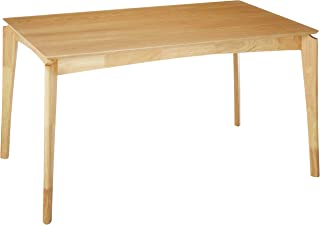 Christopher Knight Home Alma Dining Table, 6-Seater, Rubberwood with Walnut Veneer, Mid-Century, Natural Oak Finish