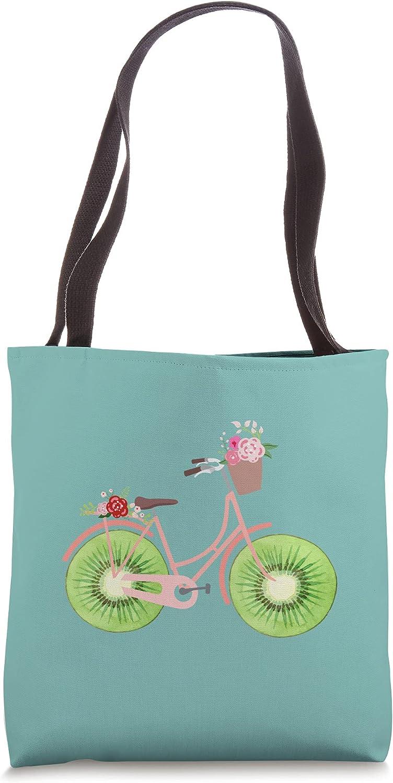 Vintage Max 71% OFF Bike Bicycle Flower Basket outlet Bag Fruit Kiwi Lovers Tote