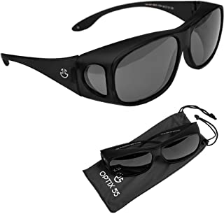 Over Glasses Sunglasses for Men & for Women, UV Protection Fit Over Polarized Wrap Arounds