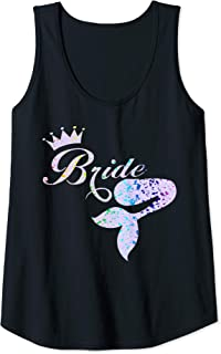 Womens Mermaid Tail & Crown - Brides Tank Top
