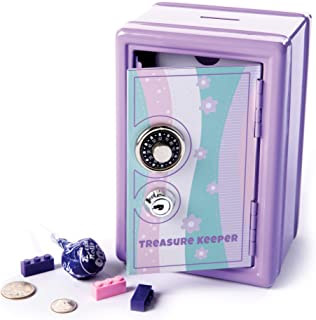 Fat Brain Toys My Treasure Keeper Safe & Bank Playroom and Bedroom Furnishings for Ages 5 to 10
