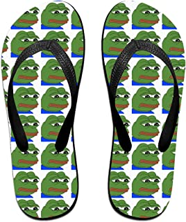 AA+ME The Sad Frog Comfortable Men Women Summer Beach Sandals Shower Flip-Flops Slippers