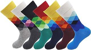 Richaa Colorido Divertido Vestido Calcetines, 6 pares Calcetines de Estilo Británico Calcetines de Los Deportes de Color D...