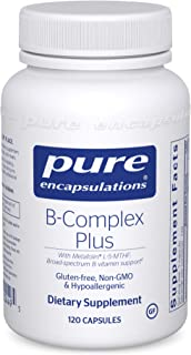 Pure Encapsulations - B-Complex Plus - Balanced B Vitamin Formula with Metafolin L-5-MTHF and Vitamin B12-120 Capsules
