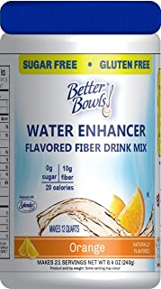 Better Bowls High Fiber, Sugar Free Flavored Fiber Drink Mix , Orange , 8.4 Ounce ( Makes 20 servings ) …