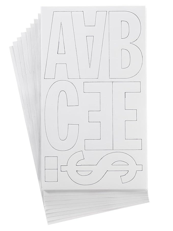 Westcott LetterCraft Permanent Vinyl Lettering Franklin Gothic 4-Inch, White (15864)