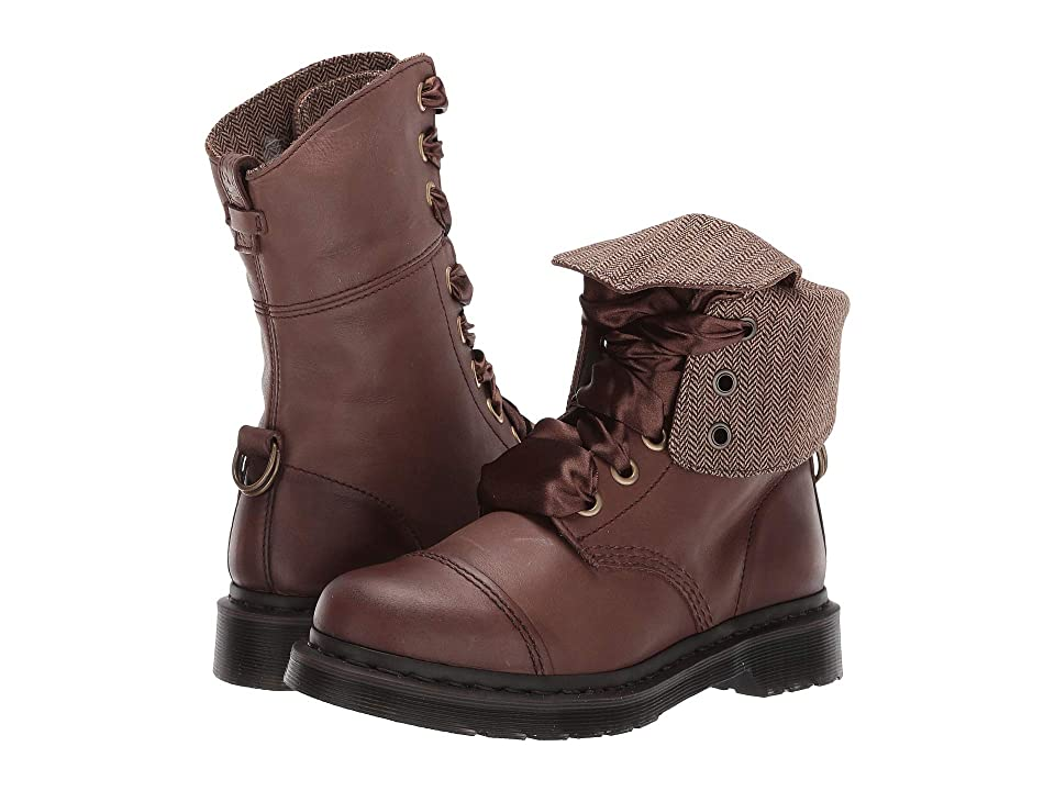 Dr. Martens Aimilita (Dark Brown Darkened Mirage) Women