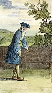 Pall Mall 1717 Na Gentleman Playing Jeu De Mail Also Known As Pele Mele Or Pall Mall Engraved Frontispiece To Nouvelles Regles Pour Le Jeu De Mail [New Rules For The Jeu De Mail Published At Paris 171
