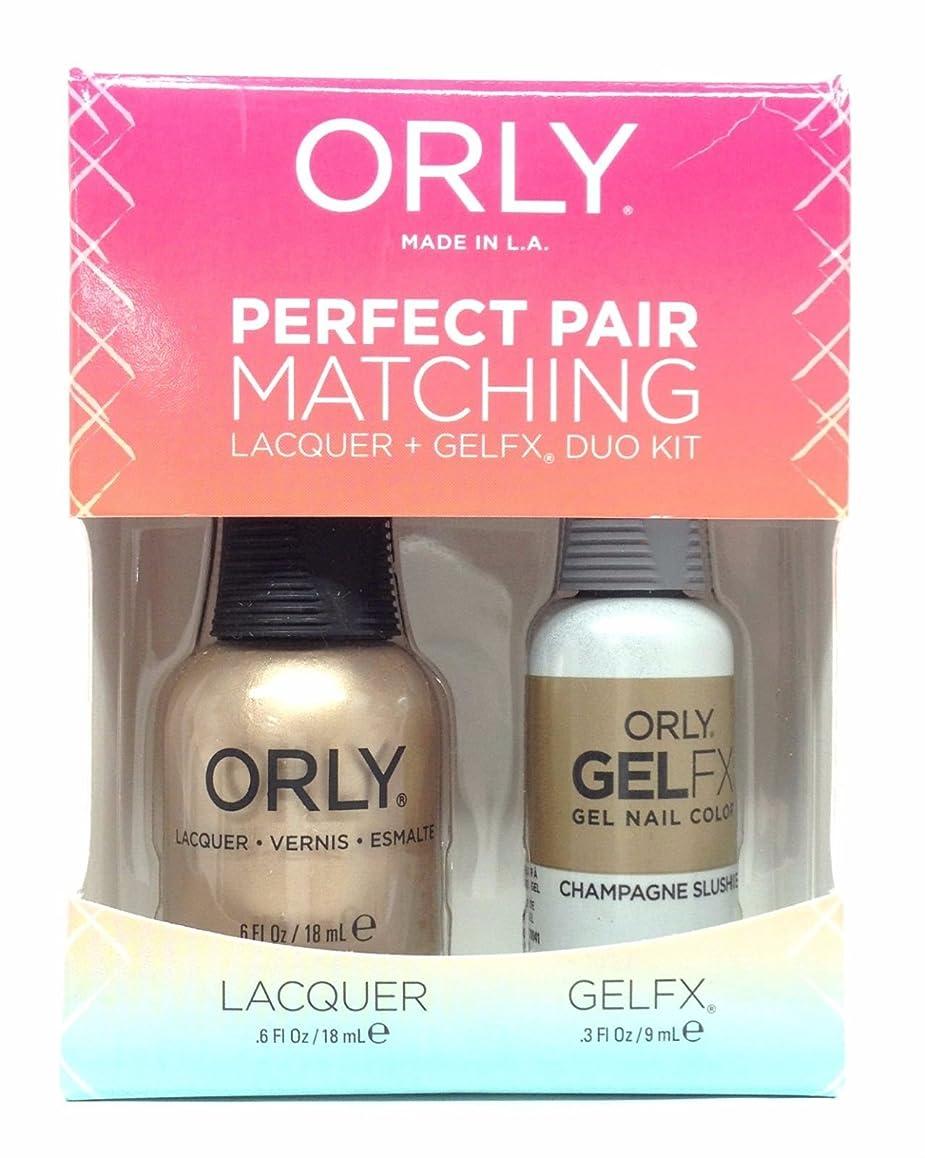 勇敢な繁雑恐れるOrly Lacquer + Gel FX - Perfect Pair Matching DUO Kit - Champagne Slushie