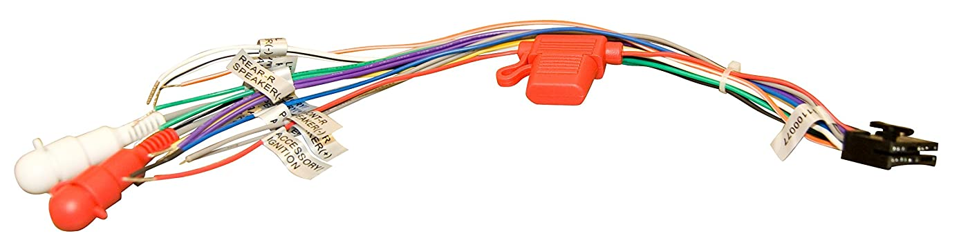 Jensen 31100077 3-wire power harness for the JENSEN VR209 and VR209TP stereos and includes the speaker wiring