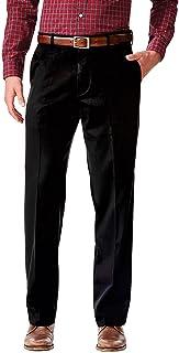 سروال رجالي مريح من Dockers بلون كاكي مطاطي مريح من الأمام مسطح