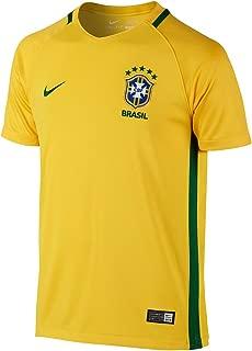 Nike 2016-2017 Brazil Home Football Soccer T-Shirt Jersey (Kids)