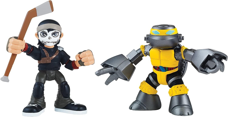 Teenage Mutant Ninja Turtles Casey Jones e Metalhead Half Shell Heroes TMNT azione cifra 2 Pack