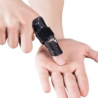 Kuangmi Finger Sleeve Support Protector Finger Splint Brace Pain Relief for Basketball Volleyball Baseball (S/M(Single), Black)