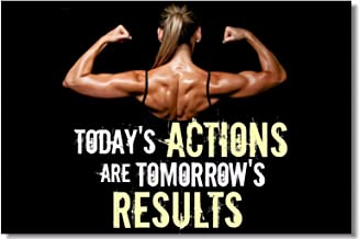1x Poster Fabric Bodybuilding Men Girl Fitness Workout Quotes Motivational Inspiration Muscle Gym Font 35.5x23.5 (90x60cm) (026)