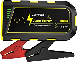 LOFTEK Portable Car Battery Jump Starter (Up to 7.0L Gas or 5.5L Diesel Engine), 12V Power Pack Auto Battery Booster with Built-in LED Light