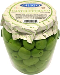 Giusto Sapore Italian Olives - Castelvetrano Pitted - Premium Gourmet GMO Free - Imported from Italy and Family Owned - 19...