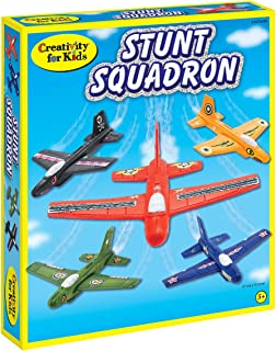 Creativity for Kids Stunt Squadron Craft Kit - Create 5 Foam Planes