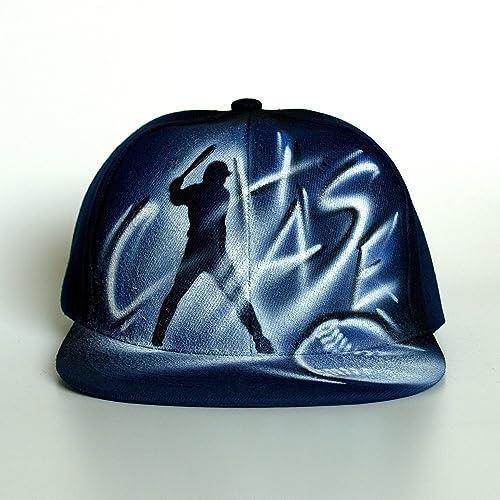 f13d4ed0 Baseball coach Custom graffiti airbrushed Snapback hat, cap, personalized  with custom name, initials