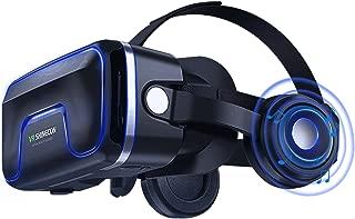 3D VR Gafas de Realidad Virtual, Gafas vr para Juegos Visión Panorámico 3D Juego Immersivo para iPh X/7/6s 6/plus, Galaxy s8/ s7con pantalla de 4,7 a 6,0 pulgadas