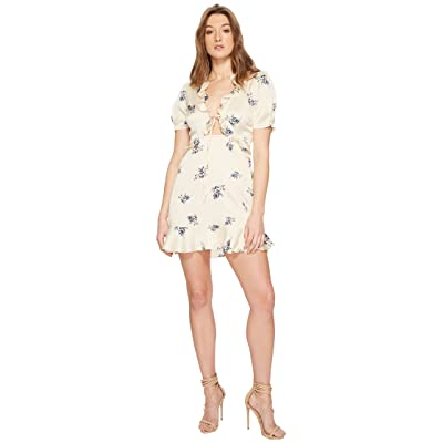 ASTR the Label Billie Dress (Cream Satin Floral) Women