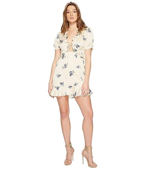 Label the Satinado Billie ASTR Vestido Floral Crema 6U4Owq5w