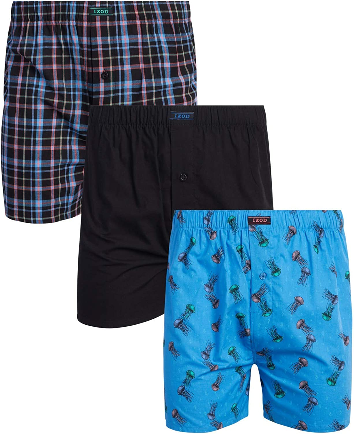 IZOD Men's Underwear Oklahoma City Mall – National products Cotton with Functi Woven Boxers