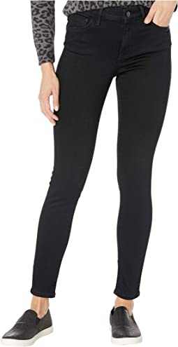 Alissa High-Rise Super Skinny Ankle in Black Brushed Supersoft