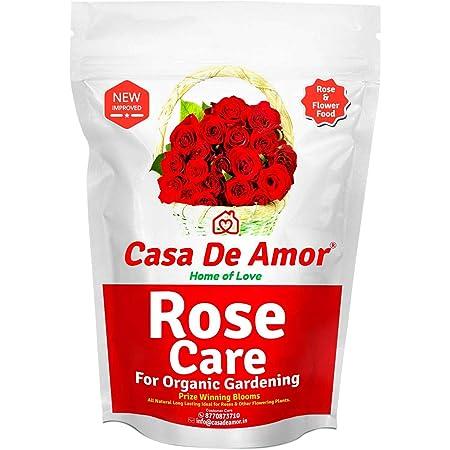 Casa De Amor Rose Care Special Organic Essential Fertilizer for Rose Plants, Brown (900 Gram)