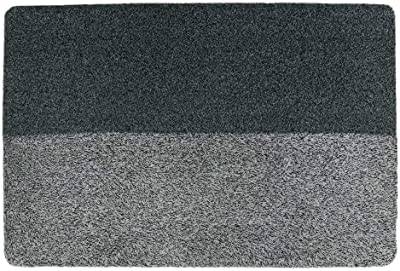 JVL Chelsea Barrier Scraper Door Mat, Grey, 60 x 90 cm, Large