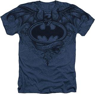 Batman Caballero Oscuro Logo con alas Dc Comics sublimada adulto Heather camiseta Tee