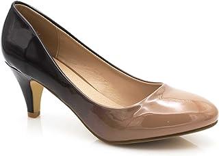 5245e7dacd7ff5 Fashion Shoes - Escarpin Femme Vernis - Chaussures Bicolore Effet Dégradé  Dames - Talon Conique Hauteur