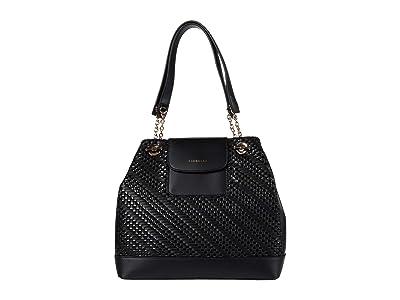 Fiorelli Chrissy Shoulder (Black Weave) Handbags