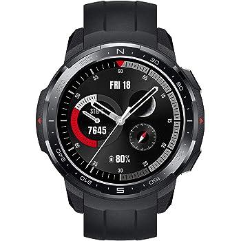 HONOR Watch GS Pro - GPS Multideporte Smartwatch con Cuerpo Resistente y Resistente, 48mm, 25-Día Batería duración, AMOLED de 1,39 Pulgadas, frecuencia cardíaca, IP68 para Hombre Mujer (Negro)