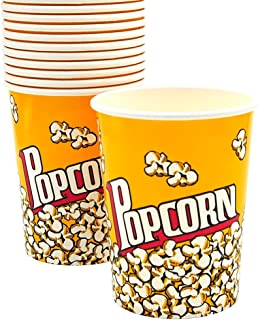 Popcorn Bowl Containers, Bucket, Boxes, Leak-Proof Cups for Kids Party, Birthday, Movie Theater, Parties, [Capacity 32 oz ...