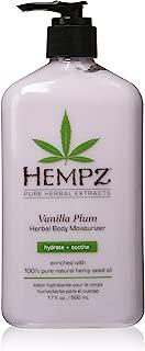 Hempz Herbal Body Moisturizer, Light Purple, Vanilla Plum, 17 Fluid Ounce