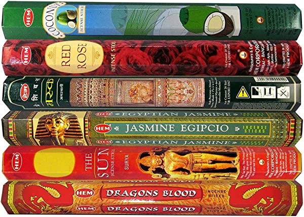 HEM Incense Sticks 28 Variety Pack Of 6 Premium Natural Fragrances 20Gms Each Best Aeromatic Natural Fragrance Perfect For Prayers Meditation Yoga Relaxation Peace Positivity Room Freshener