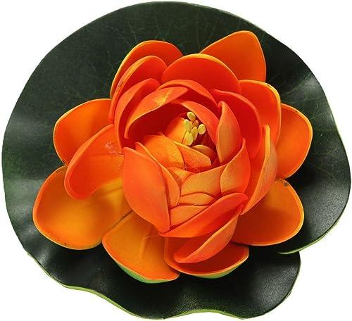 wholesale Mallofusa online Aquarium Garden Pond online Floating Lotus Decoration (Orange) outlet sale