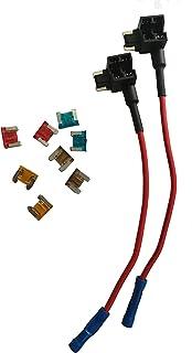 KOLACEN Bil Bil Lastbil 2 delar 16 mätare Add-a-kretssäkring TAP-adapter för lågprofil mini bladtyp säkring + 8 delar lågp...