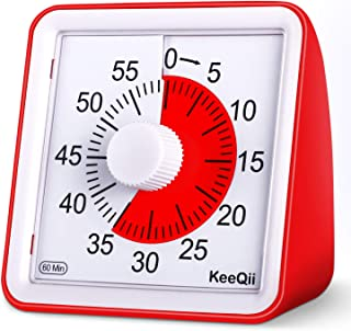 KeeQii 60 Minute Visual Timer Silence Countdown Timer Time Management Tool for Classroom Teaching or MeetingDigital Timer for Kids and Adults