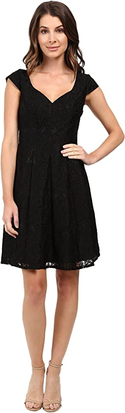 Seamed Juliet Lace Fit and Flare Dress