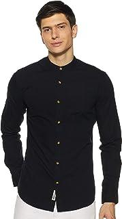 Amazon Brand - Inkast Denim Co. Men's Solid Regular fit Casual Shirt