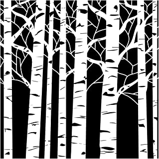 CRAFTERS WORKSHOP TCW-252 Template, 12 by 12-Inch, Aspen Trees
