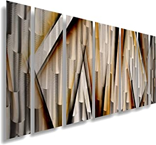 Modern Contemporary Abstract Large Metal Wall Sculpture Copper Gold Art Work