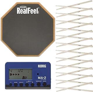 ドラム練習パッド&メトロノーム&スティック(5A)メガ盛りセット