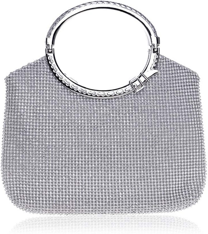 Soft Night Party Bags Womens Handbag Crystal Rhinestone Evening Clutch Bags Party Wedding Clutch Purses Evening Clutches Purses Handbag (color   Silver)
