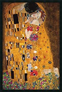 Framed Wall Art Print The Kiss (Le Baiser/Il Baccio), 1907 by Gustav Klimt 25.25 x 37.25