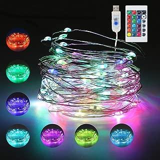 10m 100er LED Bunt Lichterkette RGB, USB Lichterketten 16 Farben Stimmungslichter mit Fernbedienung, Timer & 4 Modi, Farbwechsel Fairy Lights fur Weihnachtsbaum, Party, Schlafzimmer, Kinderzimmer